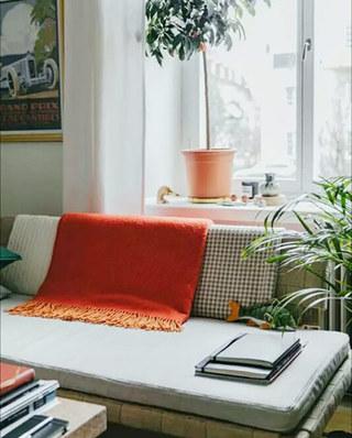 20平单身公寓装修沙发垫图片