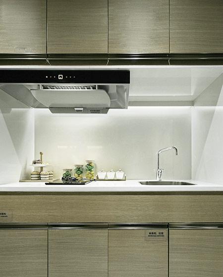 24平单身公寓装修开放式厨房