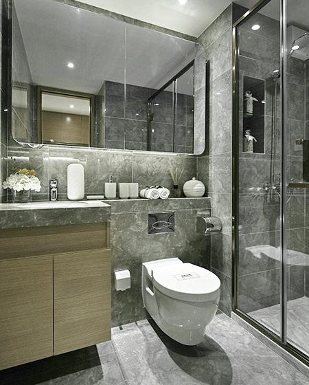 24平单身公寓装修卫生间设计