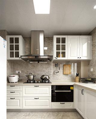 140平美式风格三居整体厨房设计