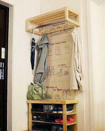 简易鞋柜装修图片