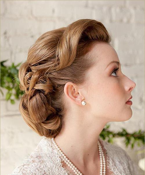 新娘敬酒服发型有哪些 新娘敬酒服发型推荐图片