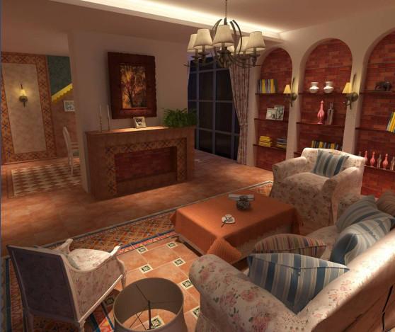 仿古客厅装修效果图 打造休闲的美式生活空间