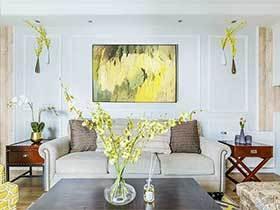 105㎡美式三居室效果图  美满新家园