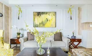 105㎡美式三居室客厅图片