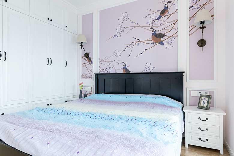 105㎡美式三居室卧室效果图