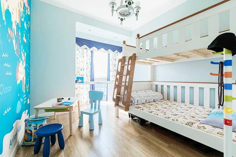 美式三居室高低床图片大全