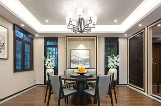 400平新中式风格别墅餐厅效果图