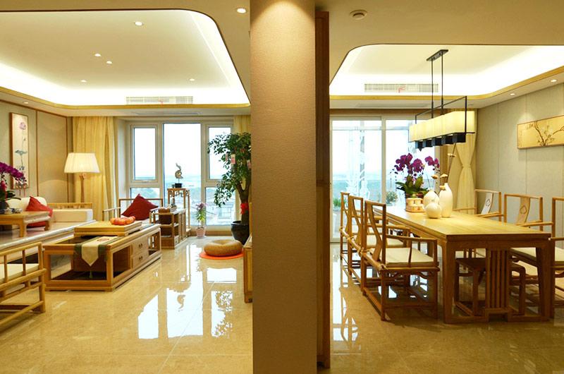 220平新中式风格四居客餐厅装修