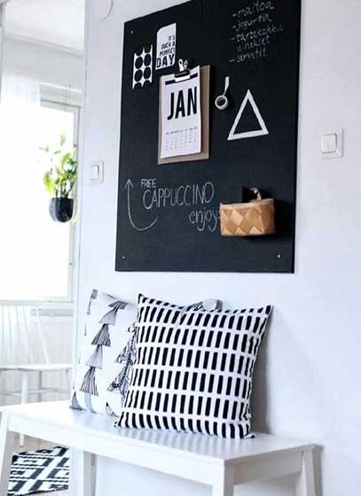 玄关黑板墙设计平面图