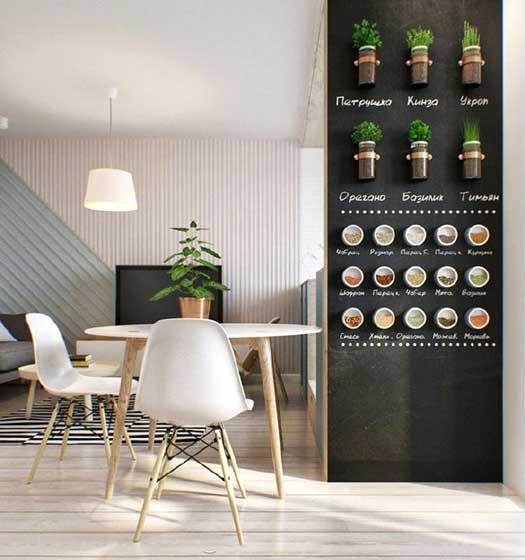 室内黑板墙设计效果图