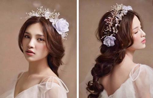 北京新娘造型图片2017款 新娘发型怎么根据脸型选择图片