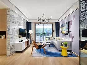 120㎡北欧风两居室设计图  北欧暖阳
