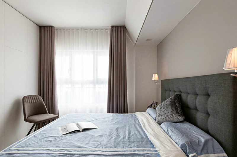 简约风格三居室装修卧室床头软包