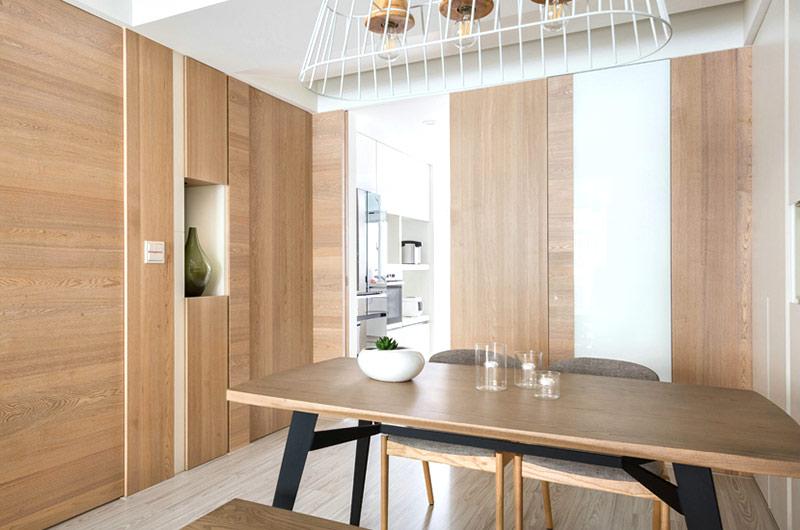 100平北欧风格装修餐边柜设计