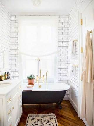 浴室布置摆放图片
