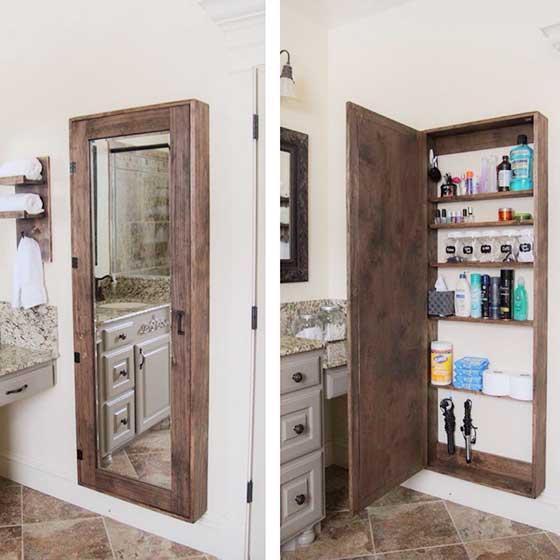 浴室收纳隐形门图片