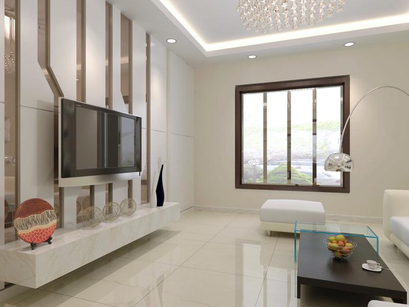 好的客厅电视背景墙装修不在于复杂的造型设计,繁多的装饰,而在于墙面