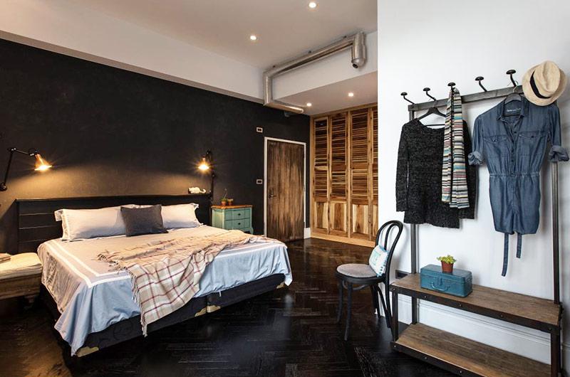 138平混搭风格loft主卧室装修