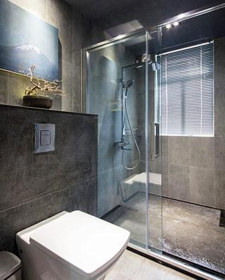 130平简约风格公寓卫生间隔断图