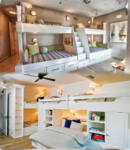 卧室高低床设计构造图