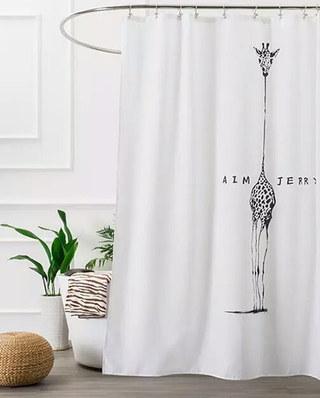 北欧风格浴帘装饰设计图