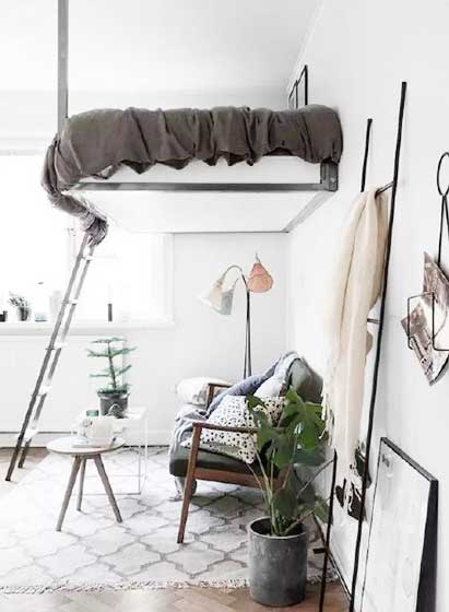 卧室高架床设计平面图
