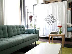 10个客厅卧室布帘隔断效果图 有效划分空间