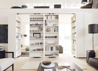书架隔断设计实景图