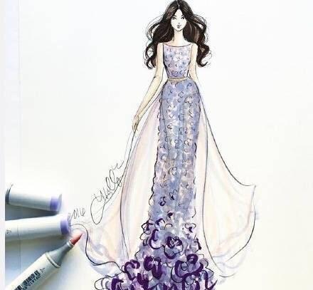 手绘婚纱礼服设计图大全 婚纱手绘设计图的画法图片