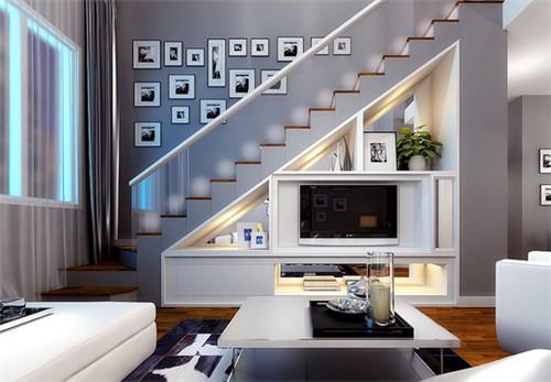 宝鸡装修:复式小公寓装修效果图 时尚经典的小复式样板间案例