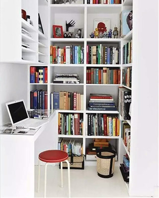 小户型书房书架效果图