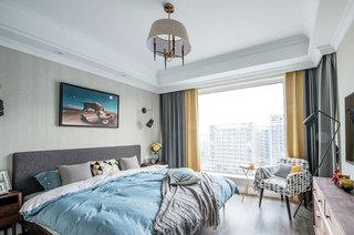 135平混搭风格公寓主卧室装修