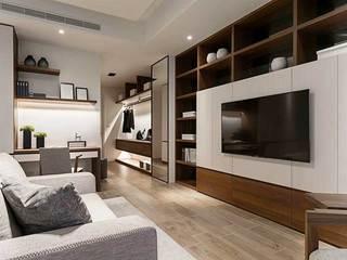 现代风格两居室卧室背景墙图片