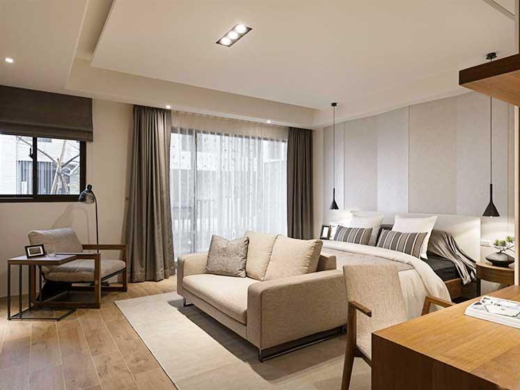 现代风格两居室卧室装修图