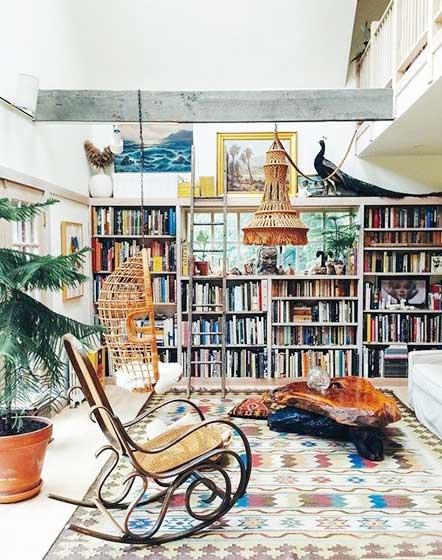 复古风书房地毯平面图