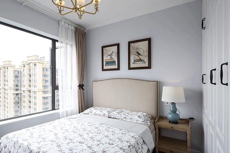 89平美式风格二居主卧室装修
