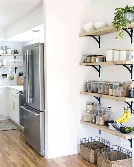 开放式厨房装修置物架装修
