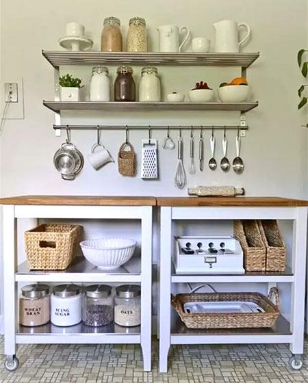 小户型厨房墙面收纳架