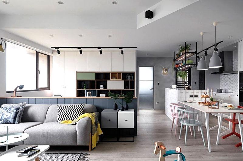 北欧风格婚房装修客厅设计图