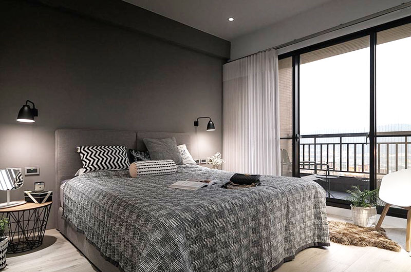北欧风格婚房装修主卧室设计图片