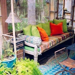 室内阳台绿植布置摆放图