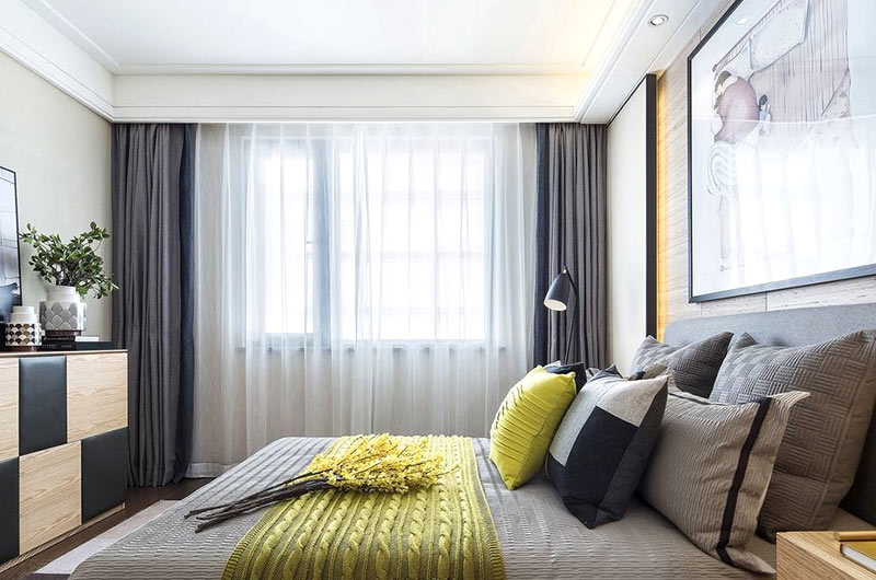 102平北欧风格样板房主卧室装修