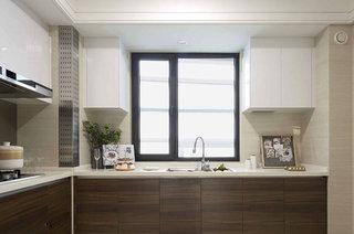 102平北欧风格样板房整体厨房设计