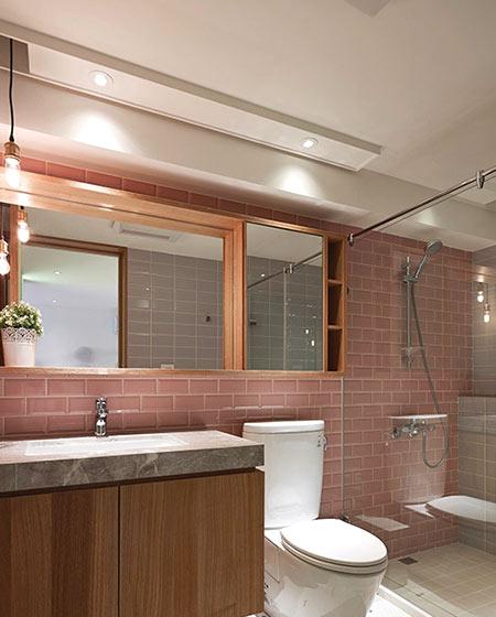 现代简约风格公寓卫生间实景图