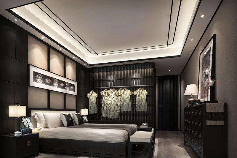 10-15万120平米中式三居室装修效果图,长泰装修案例图图片