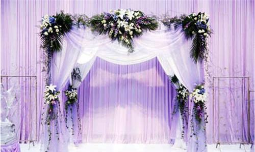 婚礼纱幔布置图片欣赏 结婚纱幔如何布置好看_婚庆