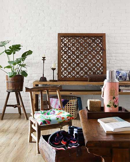 中式三居室电视背景墙图片
