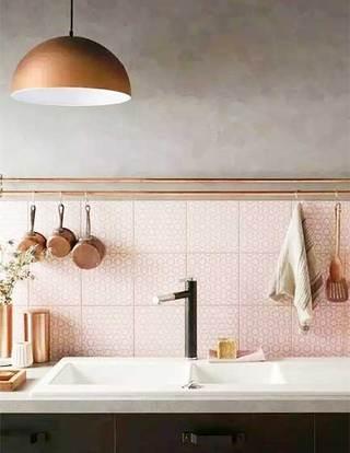 厨房小花砖设计布置图