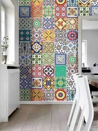 厨房小花砖装修欣赏图片